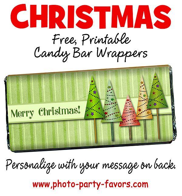 ... DIY Printable Christmas Candy Bar Wrappers - This holiday craft