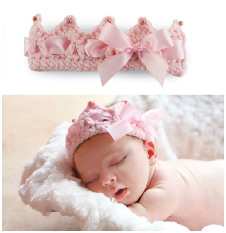 Crochet Baby Crown Headband Pattern : Crochet Crown Headband Baby Embellish!! Pinterest