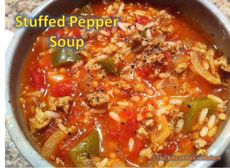 stuffed pepper soup | Soups n Stews | Pinterest