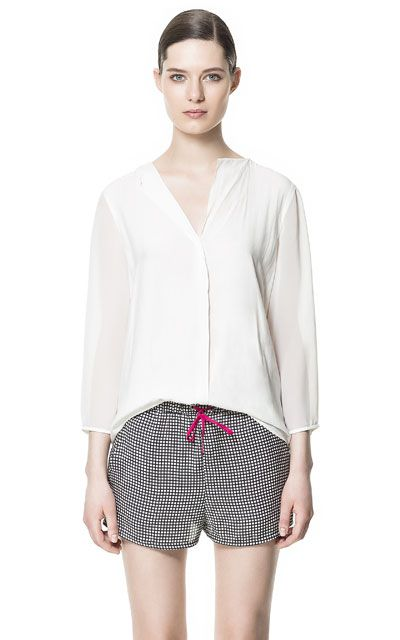 Zara Blouse With Transparent Details 66