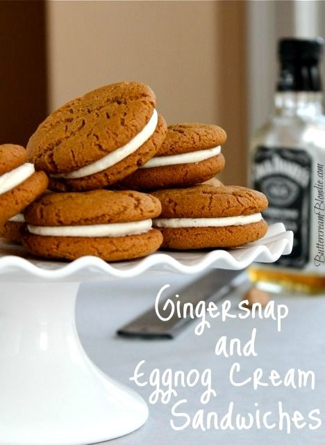 Gingersnap and Eggnog Cream Sandwiches - Sweet and sassy gingersnaps ...