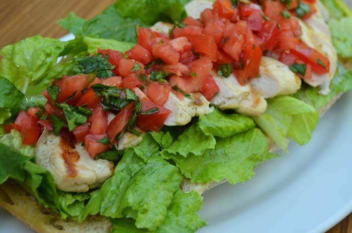 Grilled Chicken Bruschetta Salad   Recipes - Salads   Pinterest