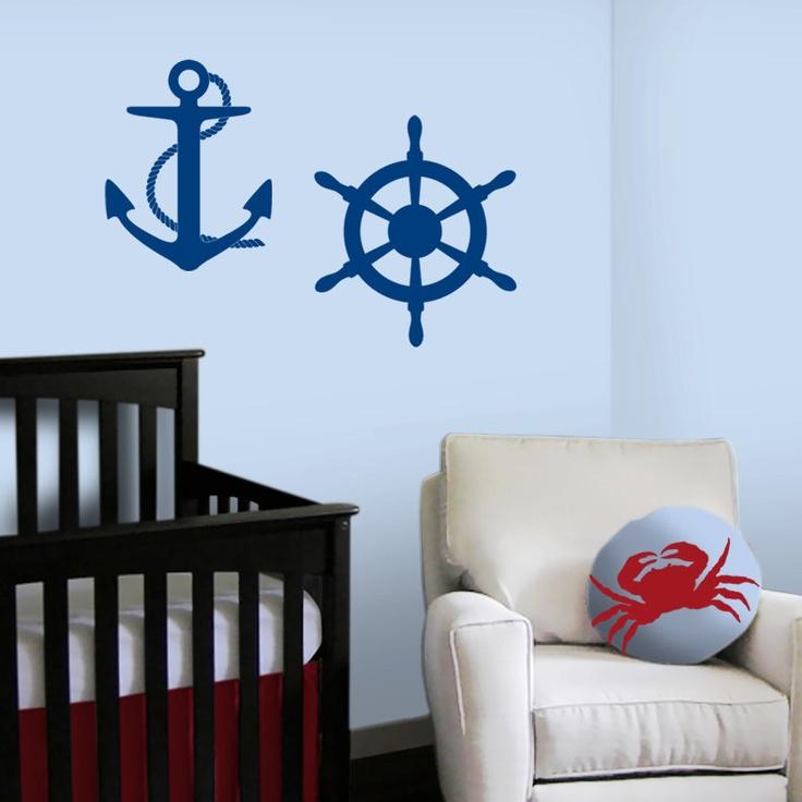 nautical wall decals 2017 grasscloth wallpaper. Black Bedroom Furniture Sets. Home Design Ideas