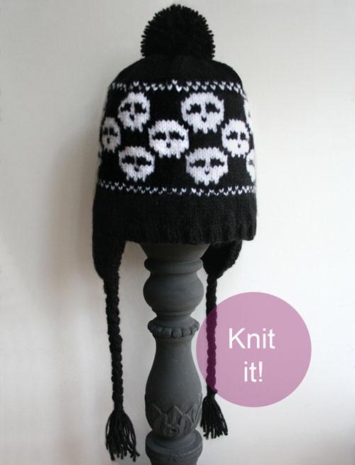 Knit Skull Pattern : Skull hat pattern Skull Patterns for Knitting Pinterest