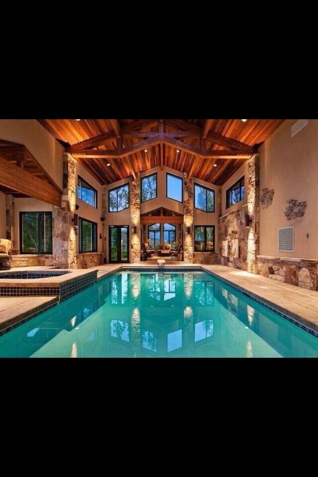 Amazing Indoor Pool Dream Home Inspiration Pinterest