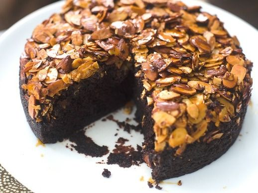 Chocolate-Almond Upside-Down Cake | Recipe