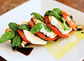 Stacked Caprese Salad with Balsamic Vinegar from Tablespoon. http://punchfork.com/recipe/Stacked-Caprese-Salad-with-Balsamic-Vinegar-Tablespoon