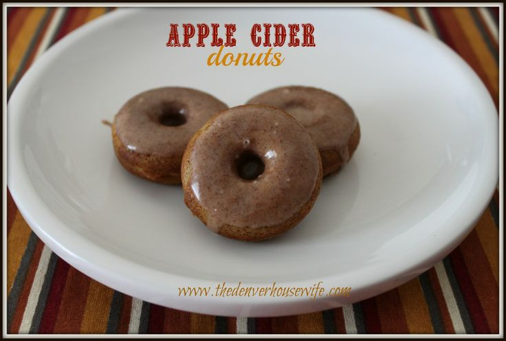 Baked Apple Cider Donuts with Apple Cider Glaze recipe! How perfect is ...