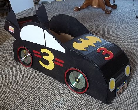 A cardboard box bat mobile brilliant cardboard boxes for How to make a cardboard box car that moves