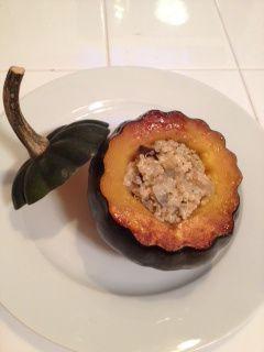 eggplant & quinoa stuffed acorn squash | Cook Off | Pinterest