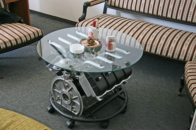 Man cave engine coffee table fun pinterest for Man cave coffee table ideas