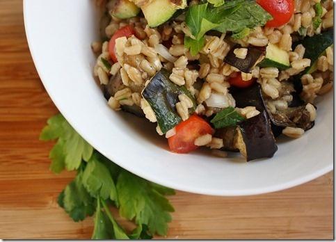 Mediterranean Eggplant and Barley Salad | European Cuisine | Pinterest