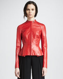 Robert Rodriguez Leather Peplum Jacket | Nice looks | Pinterest