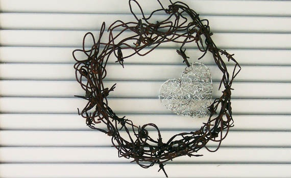 Rusty Barbed Wire Wreath