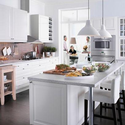 island with ikea bar stools kitchen makeover pinterest