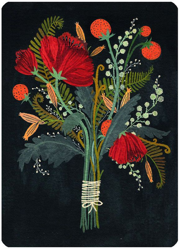 becca stadtlander illustration: Greeting Cards: sneak peek