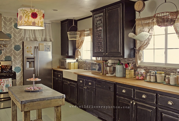 Black Cabinets Chalkboard Cabinets