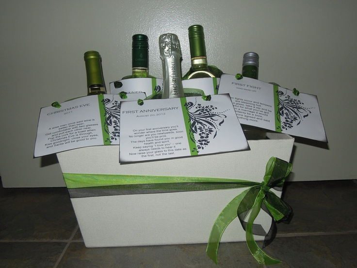 Wedding Gift for Wine Lovers - Milestone Wine Poem Tags for Every ...