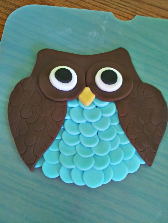 owl birthday cake toppers