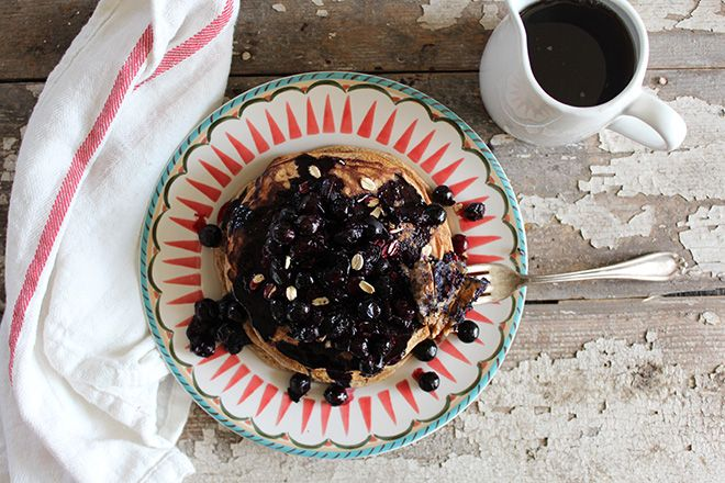 Nutrition Stripped | Simply Oat Pancakes and Blueberry Compote | http ...