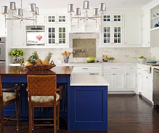 blue kitchen  Cottage  Camp  Beach house  Pinterest