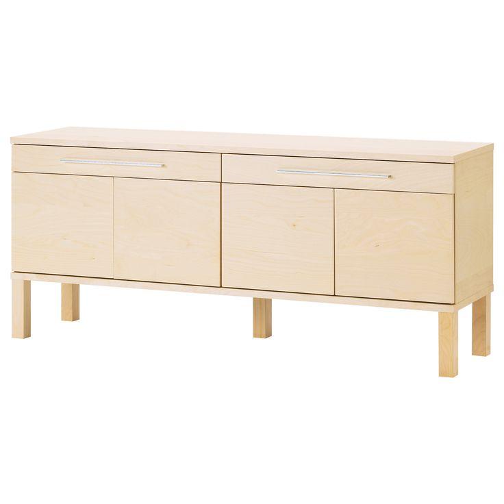 bjursta sideboard brown black. Black Bedroom Furniture Sets. Home Design Ideas