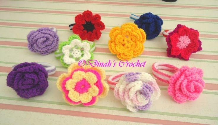 Dinahs Crochet ..: Hair ties Hair Pinterest