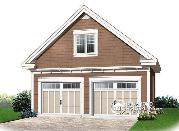 Pin by drummond house plans on garage plans garage for Gable garage plans