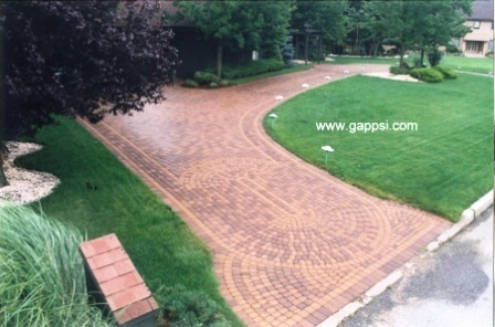 Pin by gappsi on awards winning paving stone installations for Half circle driveway design