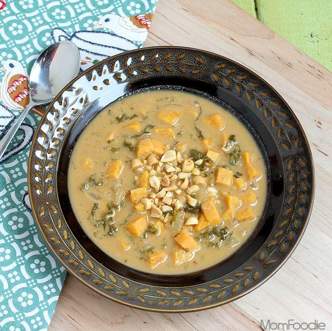Sweet Potato & Kale Peanut Soup | Recipe