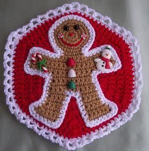 Free Crochet Patterns Christmas Potholders : Crochet Christmas Potholder Crochet 4 Pinterest