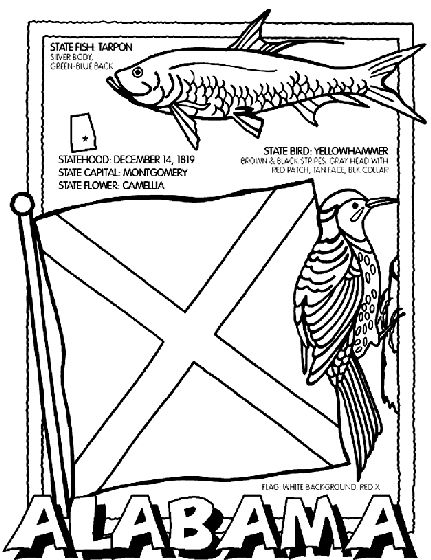 coloring pages 50 states - photo#6