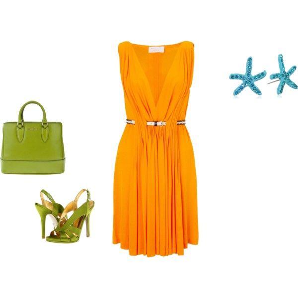 """Bright Spring - orange/citrus inspiration"" by adriana-cizikova on Polyvore"