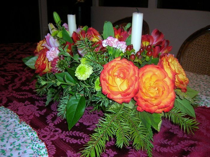 Christmas Centerpiece Centerpieces Pinterest