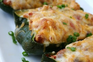 Mexican Stuffed Poblano Peppers: A cross between stuffed peppers and a ...