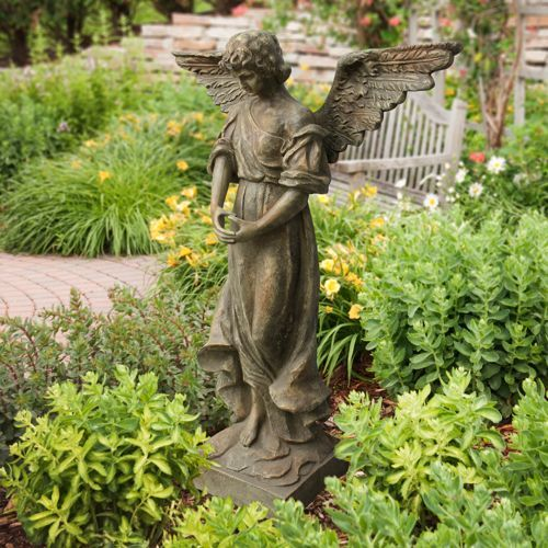 Garden Angel Statue Garden Decor Pinterest