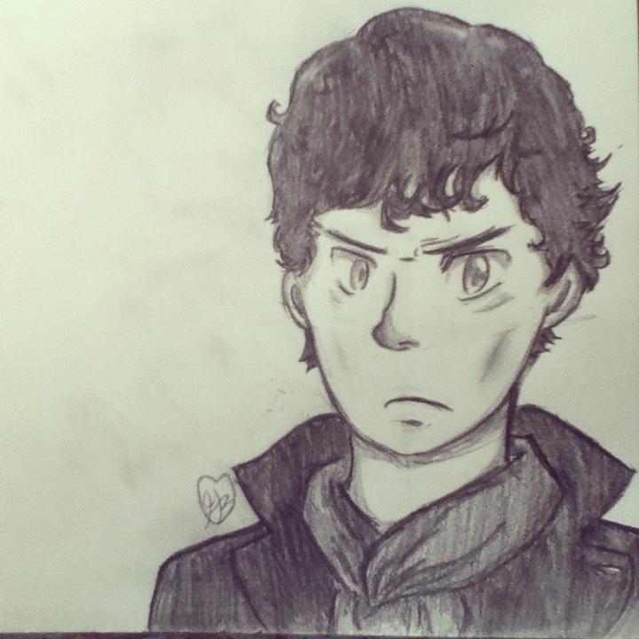 BBC Sherlock Holmes Sketch Drawing Bbc Sherlock Drawing