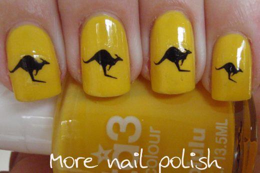 Kangaroo nail art