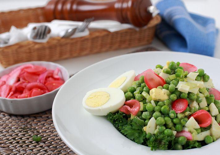 Crisp Pea Salad w/ Pickled Radish