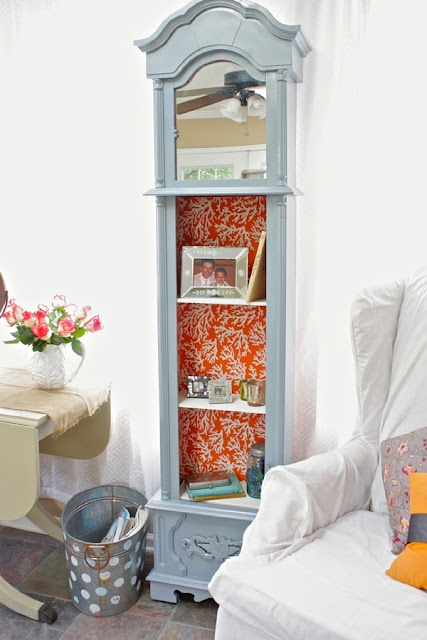 Someday Crafts: Grandfather Clock Turned Into Shelving