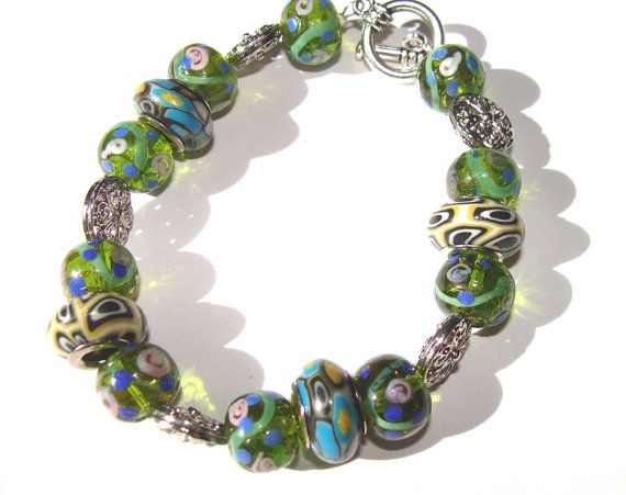 Beaded bracelet Blue And Green Womens Fashion Jewelry by @Sirius Krook