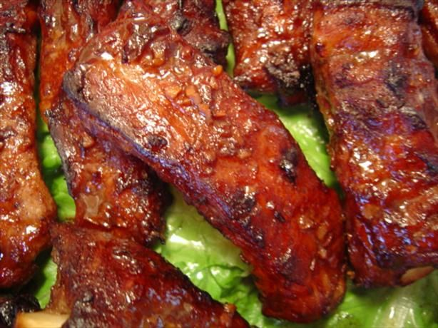Chinese Fragrant Spareribs - crockpot - then oven