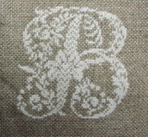 "Vintage cross stitch monogram ""B"""