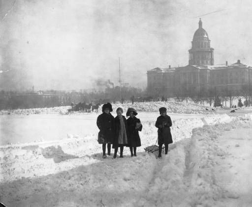 Snow storm western history denver pinterest