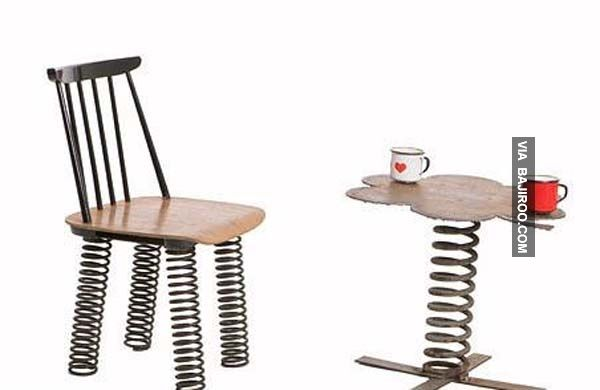 funn chair with spring legs 32 Photos Of Unusual Furniture
