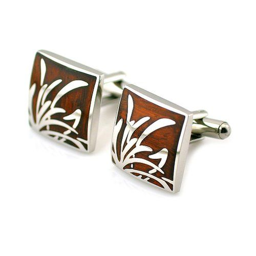 Elegant Wood Cufflinks. Fifth anniversary gifts. For him.