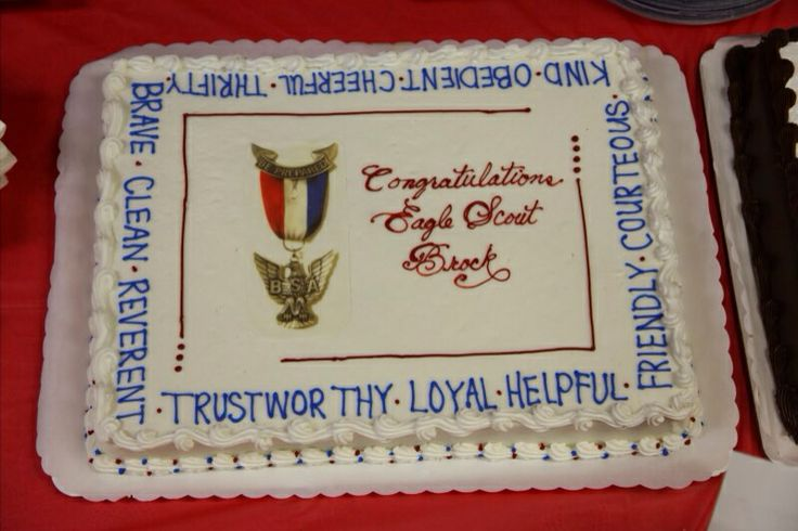 Eagle Scout cake Eagle Scout Court of Honor Pinterest