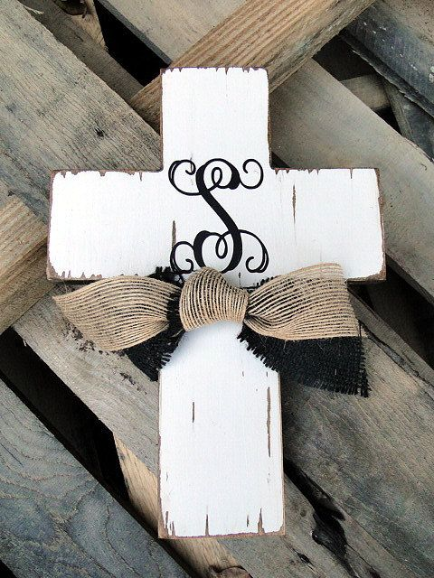 monogrammed cross