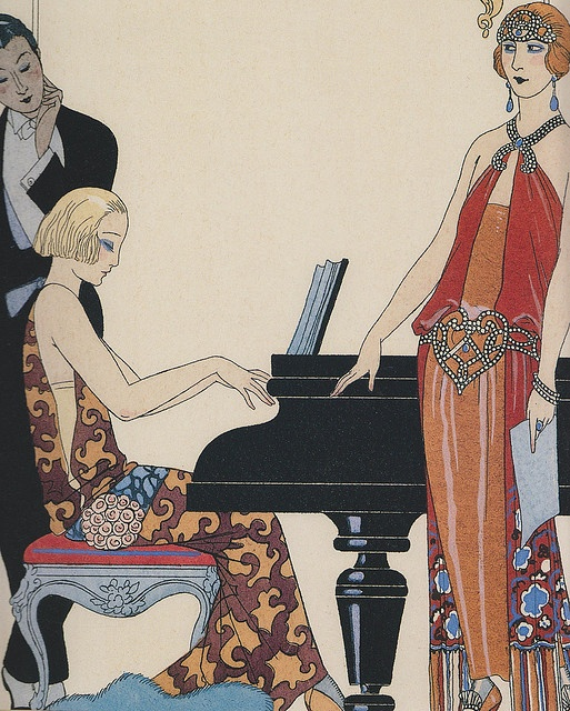 Fashion illustration jadymel art deco ladies are always for Art deco illustration