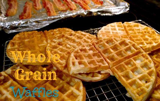Whole Grain Waffles | Recipes from Mom-Makes.com | Pinterest